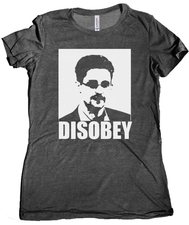 Disobey Women's Tee by Libertarian Country