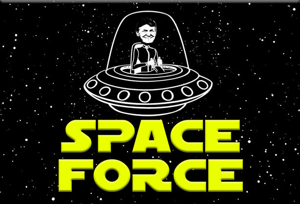 Trump Space Force Magnet by Libertarian Country