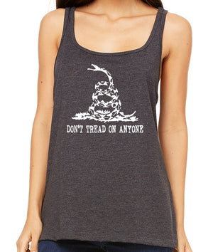 Don't Tread on Anyone Premium Women's Tank Top by Libertarian Country
