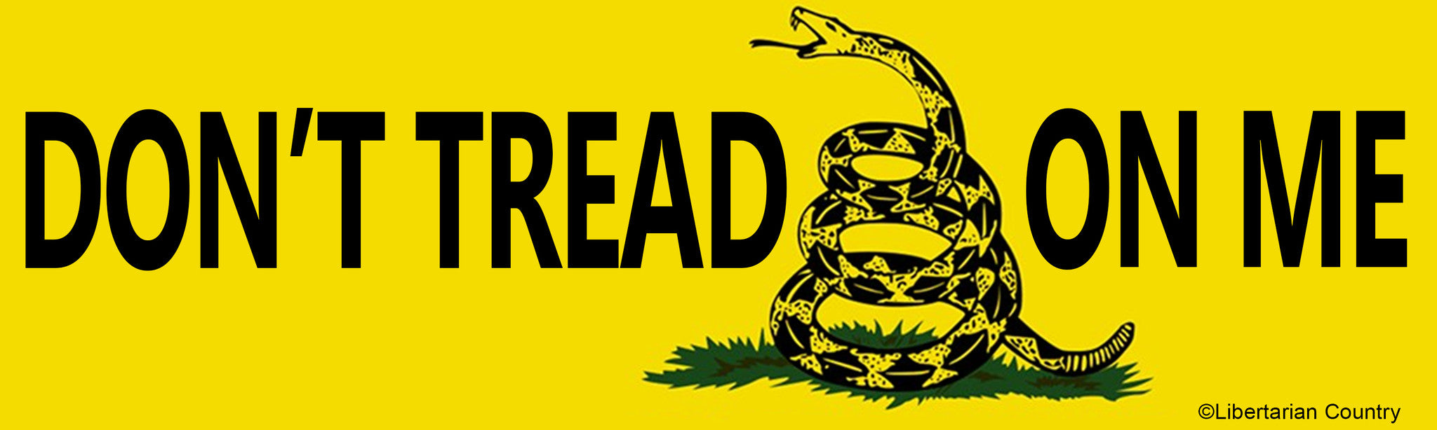 don t tread on me bumper sticker libertarian country