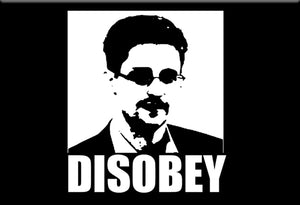 Edward Snowden Disobey Magnet by Libertarian Country