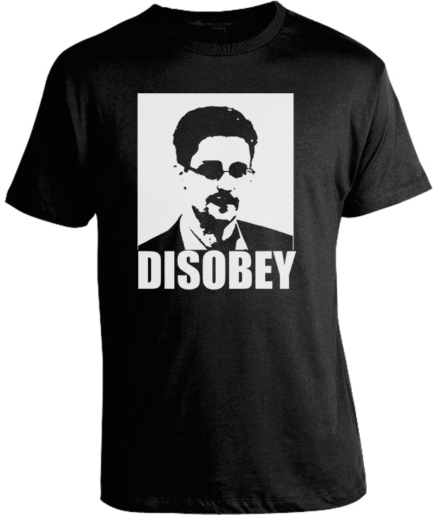 Edward Snowden Disobey T-Shirt by Libertarian Country