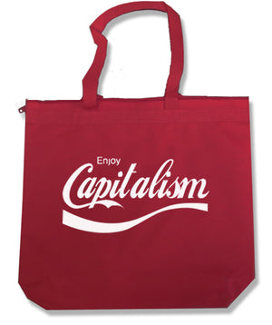 Enjoy Capitalism Tote Bag by Libertarian Country