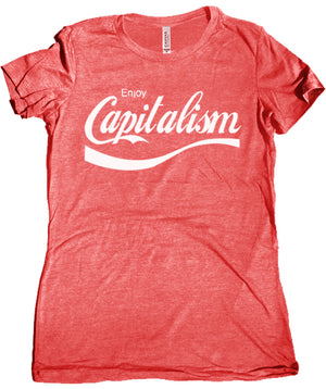 Enjoy Capitalism Premium Women's Tri Blend Tee