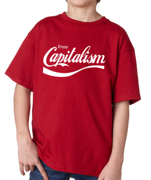 Enjoy Capitalism Youth T-Shirt by Libertarian Country