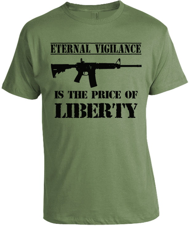 Eternal Vigilance Gun Shirt by Libertarian Country