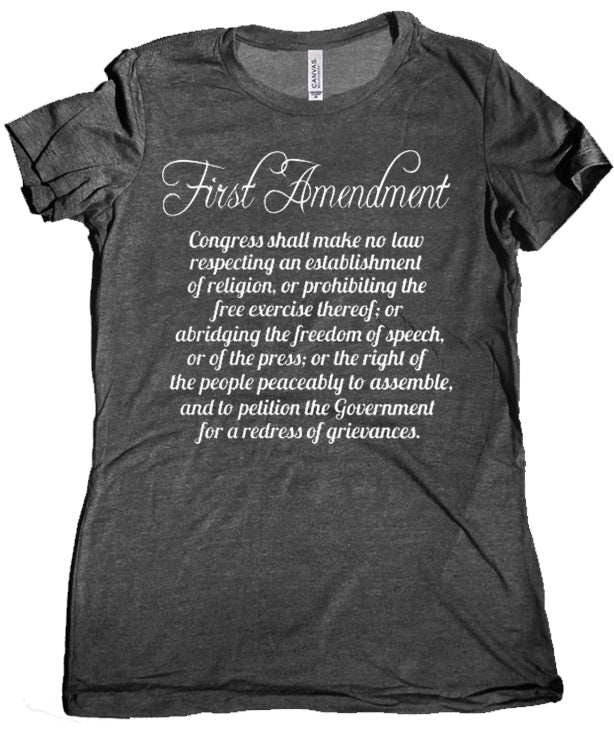 First Amendment Women's Tee by Libertarian Country