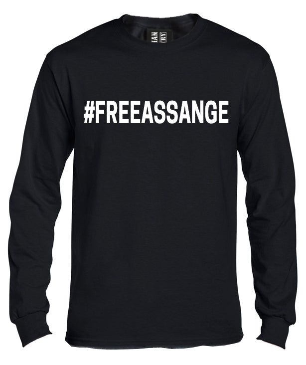 Free Assange Long Sleeve Shirt by Libertarian Country
