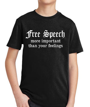 Free Speech Youth T-Shirt by Libertarian Country