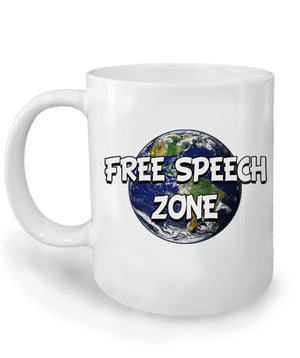 Free Speech Zone Ceramic Coffee Mug