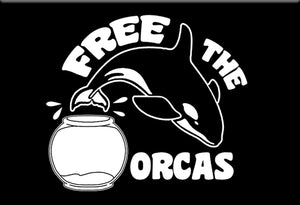 Free the Orcas Magnet by Libertarian Country