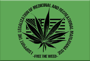 Free the Weed Magnet by Libertarian Country