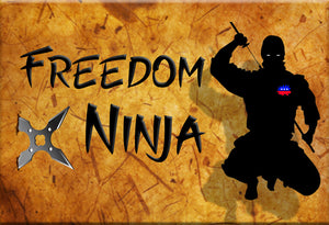 Freedom Ninja Magnet by Libertarian Country