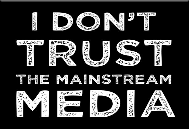I Don't Trust the Mainstream Media Magnet by Libertarian Country