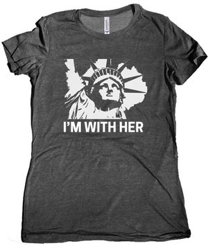 I'm With Her Statue of Liberty Premium Women's Shirt by Libertarian Country