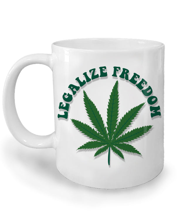 Legalize Freedom Marijuana Mug by Libertarian Country