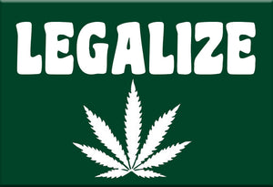 Legalize Marijuana Magnet by Libertarian Country