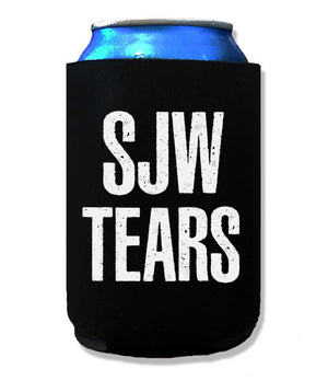 Social Justice Warrior Tears Beer Koozie