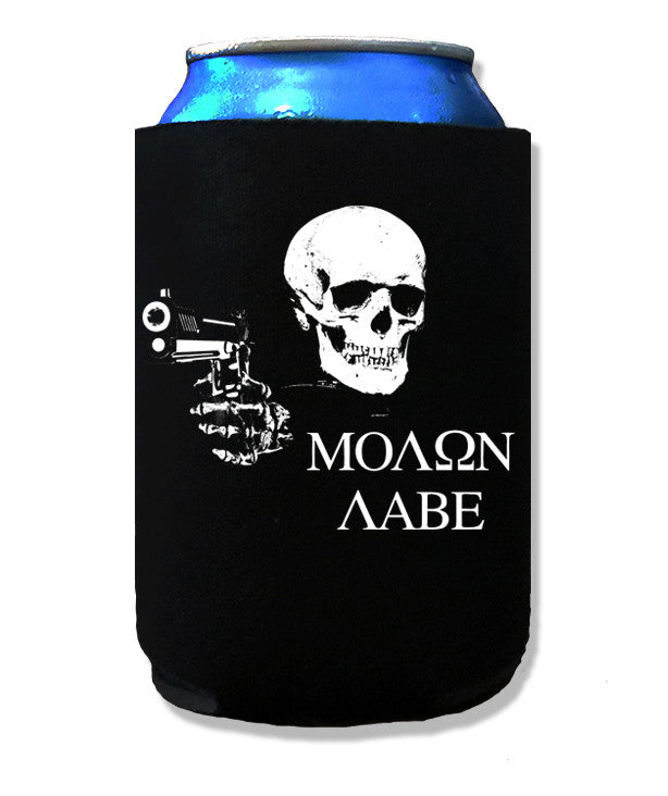 Libertarian Country Molon Labe Koozie