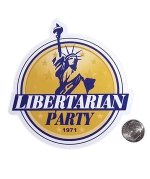 Libertarian Party Logo Die Cut Sticker