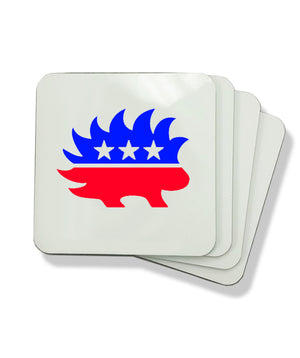 Libertarian Porcupine Coasters by Libertarian Country