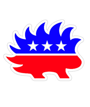 Libertarian Porcupine Die Cut Sticker by Libertarian Country