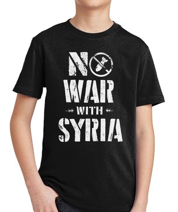 No War with Syria Kid's Tee by Libertarian Country