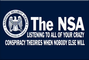 NSA Conspiracy Magnet by Libertarian Country
