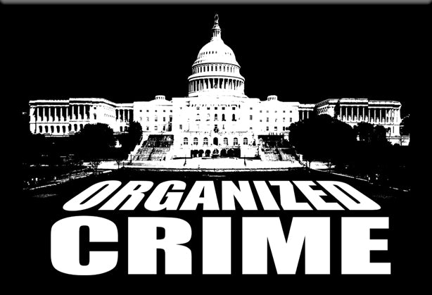 Organized Crime Parody Magnet by Libertarian Country