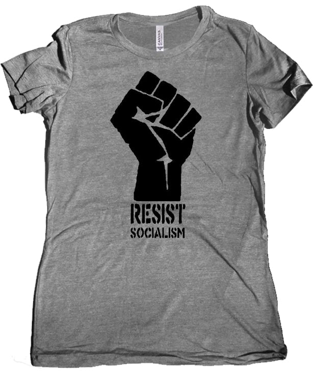 Resist Socialism Women's Tee by Libertarian Country