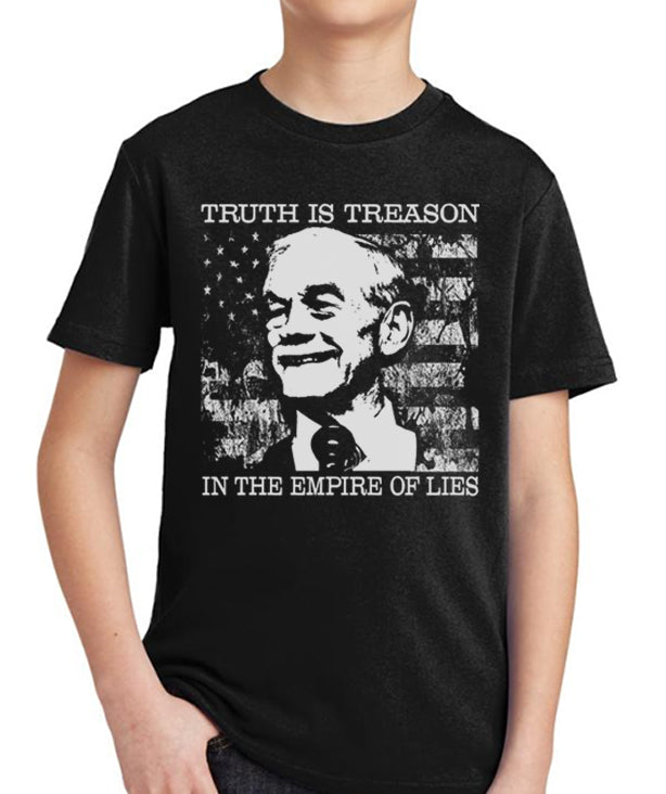 Ron Paul Truth is Treason Youth T-Shirt by Libertarian Country