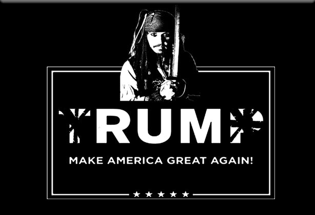 Rum Make America Great Again Magnet by Libertarian Country