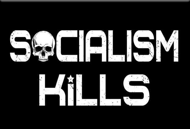 Socialism Kills Magnet by Libertarian Country