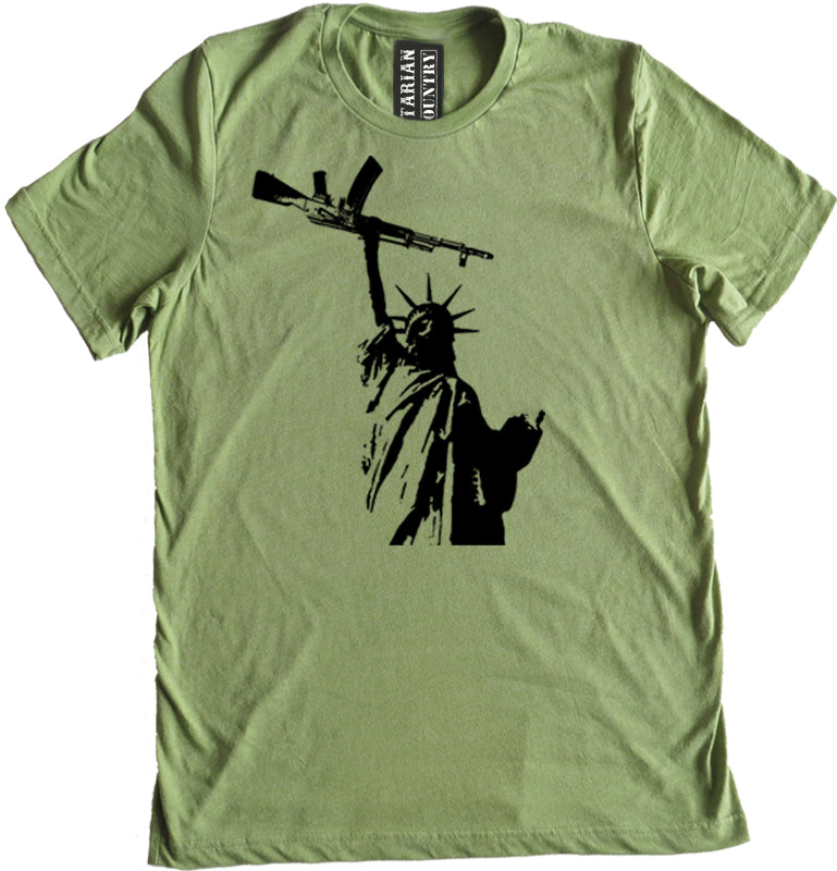 Statue of Liberty AK 74 Premium Dual Blend Tee by Libertarian Country