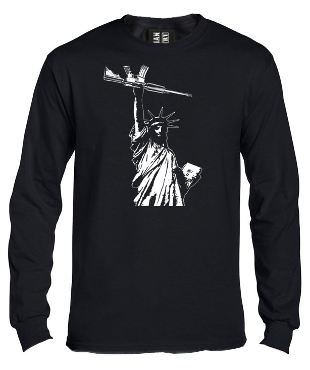 Statue of Liberty with AR-15 Long Sleeve T-Shirt