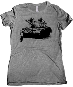 Tiananmen Square Premium Women's Tee by Libertarian Country