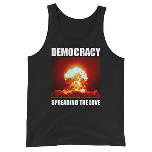 Democracy Spreading the Love Premium Tank Top by Libertarian Country