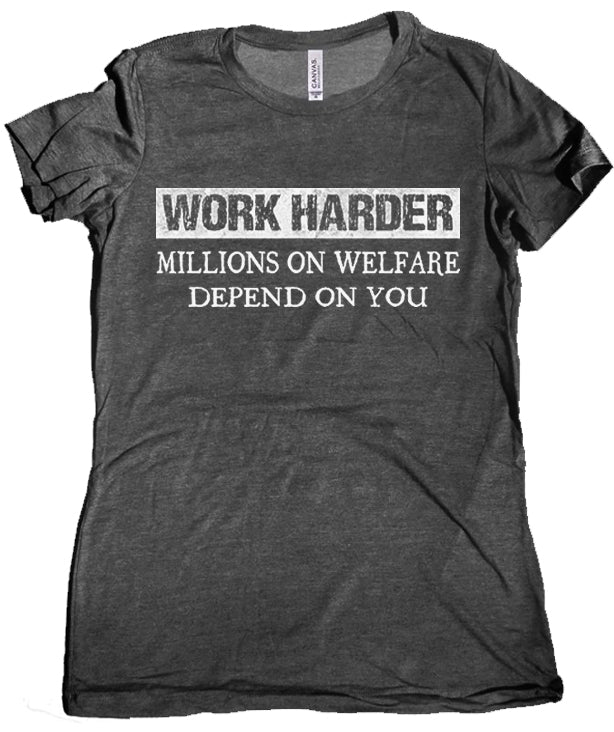 Millions on Welfare Premium Women's Tee by Libertarian Country