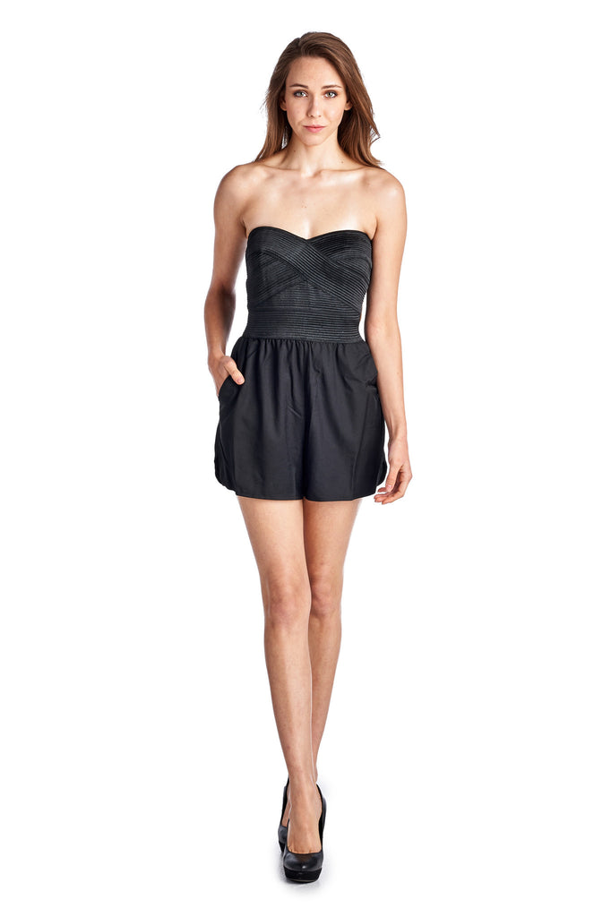 Urban Love Strapless Romper - WholesaleClothingDeals - 1