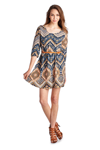 Urban Love Belted Tunic Dress - WholesaleClothingDeals - 1