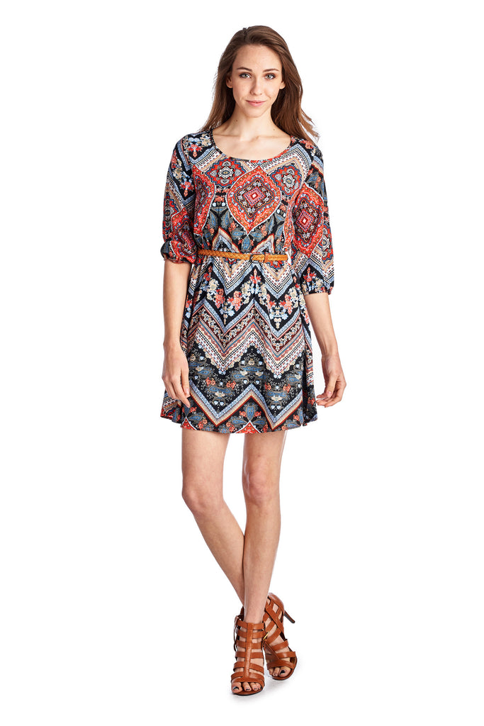Urban Love Belted Tunic Dress - WholesaleClothingDeals - 6