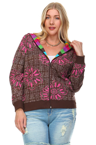 Christine V Reversible Zip Up Hoodie - WholesaleClothingDeals - 1