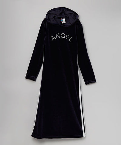 Jojo Belle Velour Hooded Long Dress - WholesaleClothingDeals
