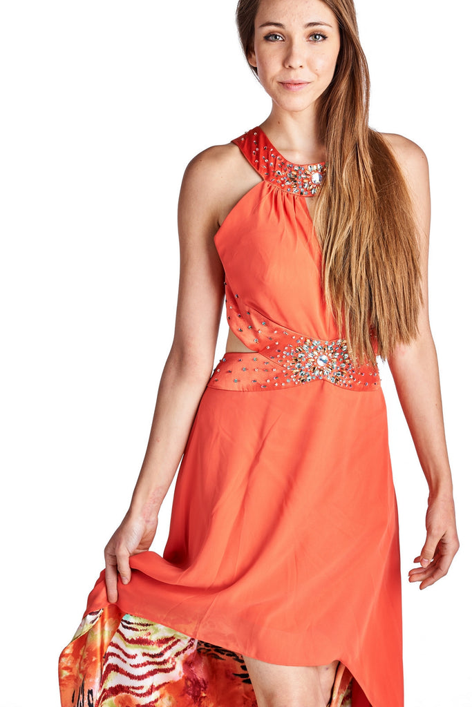 Ignite Embellished High Low Evening Gown - WholesaleClothingDeals - 2