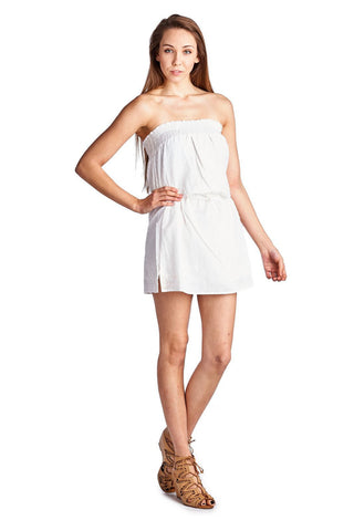 Urban Love Smocked Strapless Tube Dress - WholesaleClothingDeals - 1