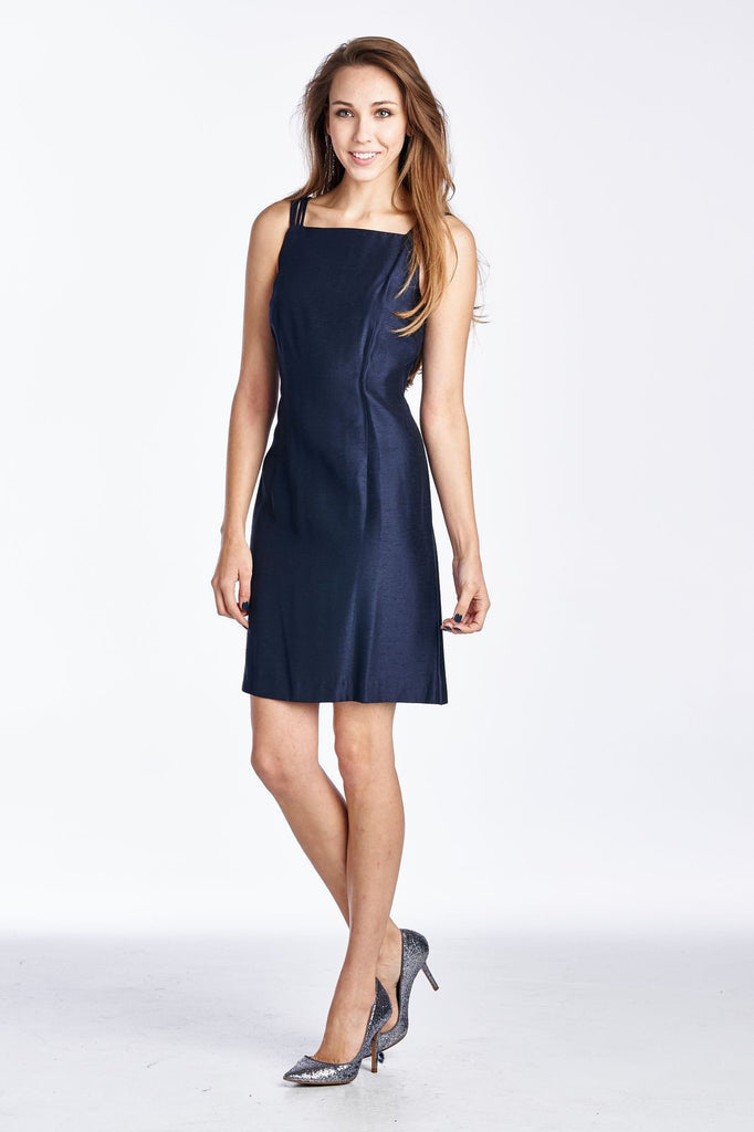Helen Blake Sleeveless Square Neck Midi Dress - WholesaleClothingDeals - 1