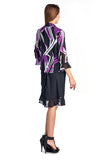 Christine V 2 Piece Solid Sleeveless Tank Dress with Printed Chiffon Overlay - WholesaleClothingDeals - 3