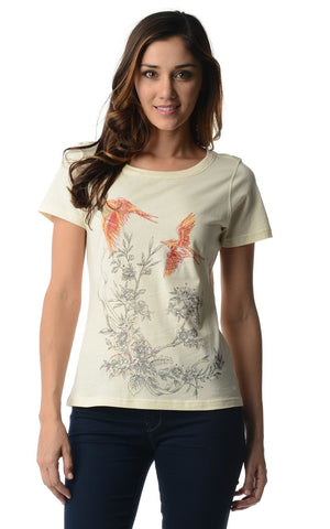 Christine V Short Sleeve Embroidered Tee - WholesaleClothingDeals - 1