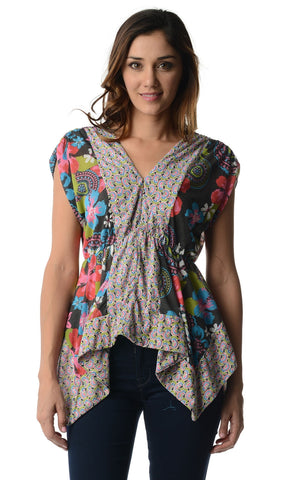 Urban Love Floral Printed Flutter Top - WholesaleClothingDeals - 1