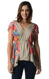 Urban Love Floral Printed Flutter Top - WholesaleClothingDeals - 9